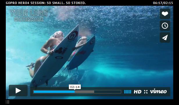Vimeo Videos – Playlist Only With Image - White Controlls